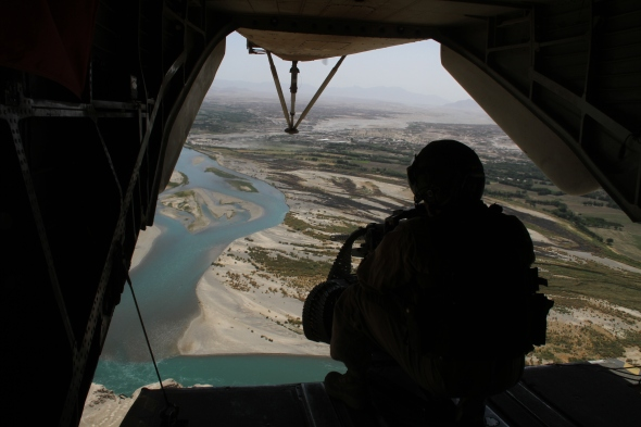 View over Sangin district centre and the southern Green Zone (Julius Cavendish)