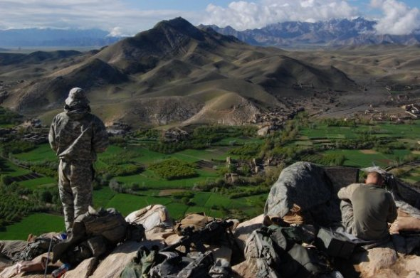 The Tangi valley in April 2009. On Saturday a U.S. military Chinook crashed under fire killing 38 people on board, including 22 members of U.S. Navy SEAL Team Six (Julius Cavendish)