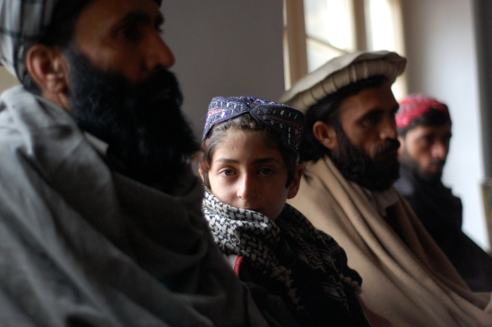 Former Hezb-i-Islami tank driver Naquibullah (L), and brothers Eidmajan (9 yrs), former TTP commander Gulzaman (30), and former TTP fighter Nikzaman (22). Since reintegrating they have been jobless outcasts | Julius Cavendish